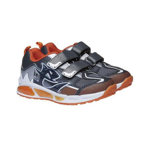 Sneakers da bambino con chiusure a velcro mini-b, grigio, 211-2155 - 26