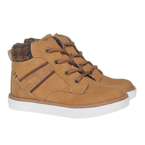 Sneakers da bambino alla caviglia mini-b, giallo, 211-8169 - 26