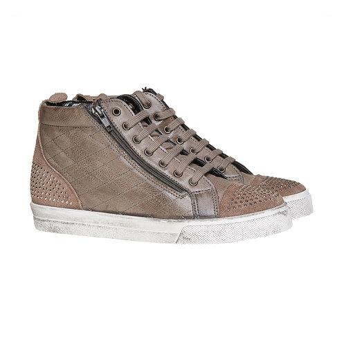 Sneakers alla caviglia con cuciture north-star, grigio, 543-2127 - 26