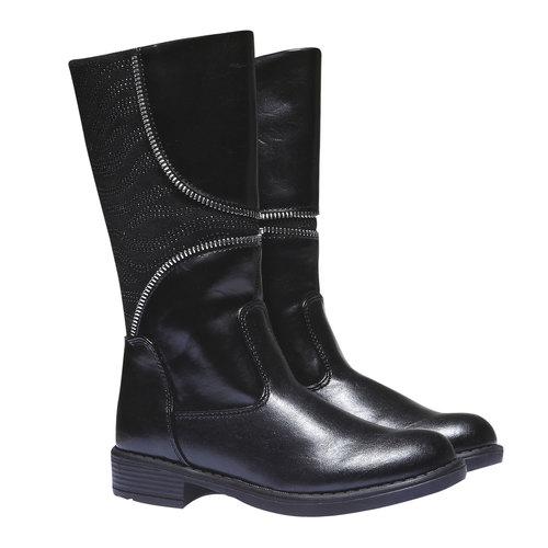 Scarpe bambini mini-b, nero, 391-6119 - 26