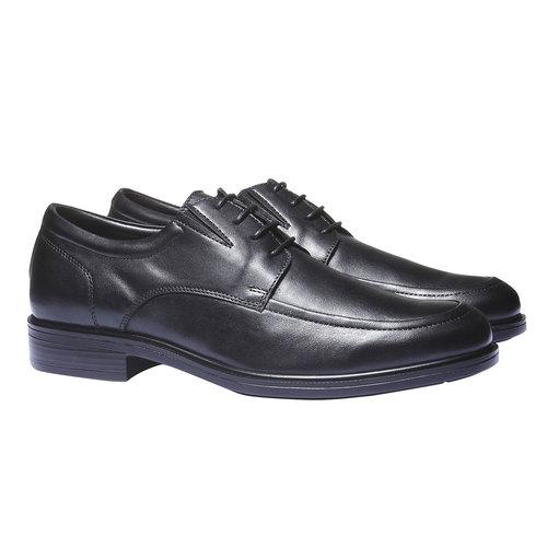 Scarpe basse da uomo in pelle bata-comfit, nero, 824-6933 - 26