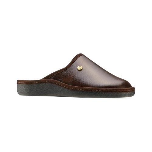 Pantofole da uomo con punta chiusa bata, marrone, 871-4304 - 13
