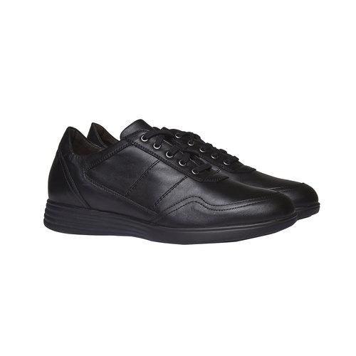 Sneakers informali di pelle air-system, nero, 824-6257 - 26