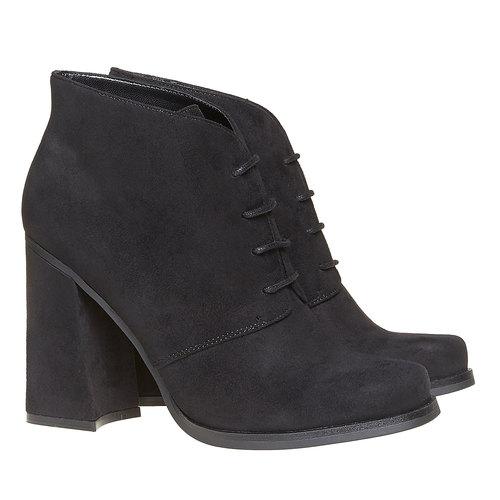 Scarpe basse da donna con tacco ampio bata, nero, 799-6430 - 26