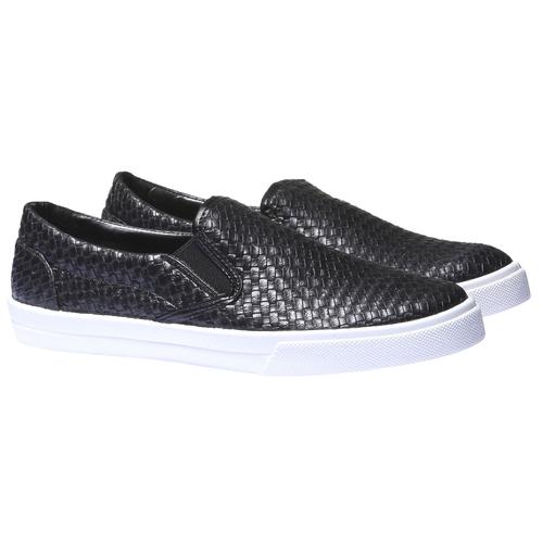 Sneakers trendy Plimsoll bata, nero, 831-6107 - 26