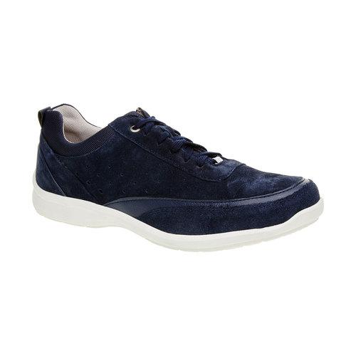 Sneakers informali di pelle bata-comfit, blu, 843-9643 - 13