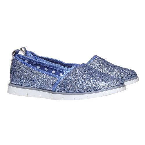 Slip-on da ragazza con glitter mini-b, viola, 329-9163 - 26