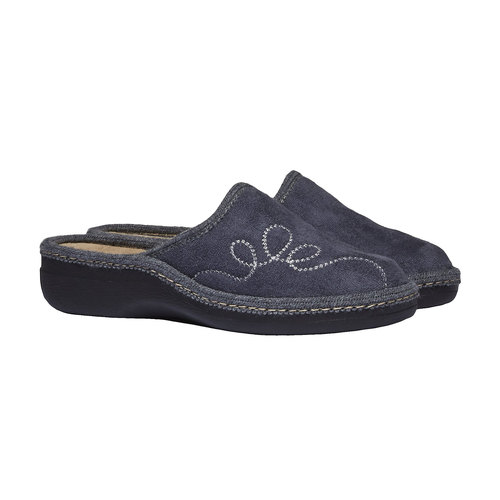 Pantofole da donna bata, grigio, 579-2234 - 26