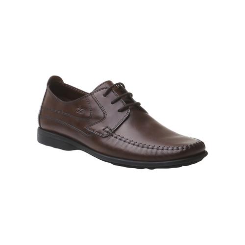 Scarpe in pelle con lacci bata-comfit, marrone, 854-4836 - 13