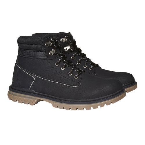 Scarpe alla caviglia con suola appariscente bata, nero, 891-6438 - 26