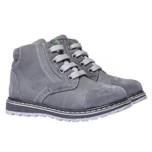 Scarpe di pelle alla caviglia mini-b, grigio, 211-2138 - 26