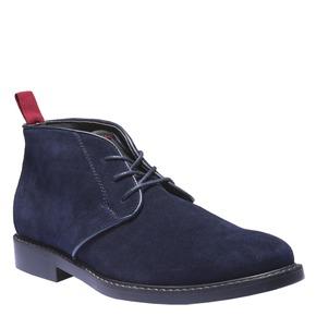 Scarpe Chukka in pelle bata, blu, 893-9245 - 13