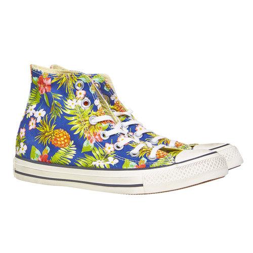 Sneakers alla caviglia con stampa colorata converse, blu, verde, 589-0216 - 26