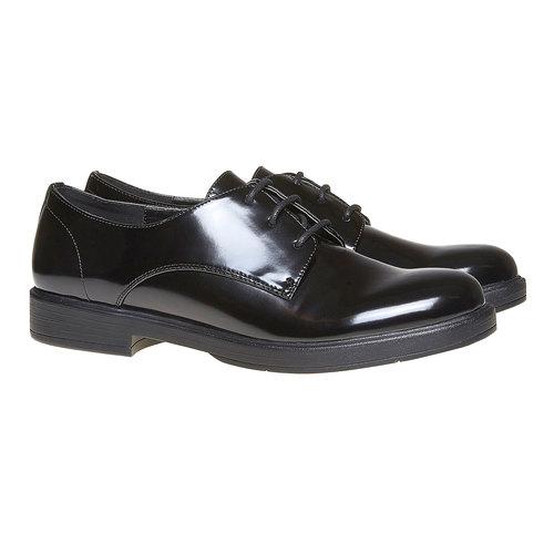 Scarpe basse da donna verniciate bata, nero, 521-6291 - 26