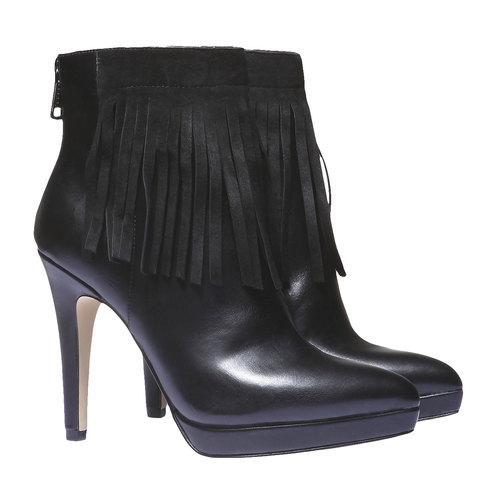 Scarpe alla caviglia con tacco a spillo bata, nero, 791-6589 - 26