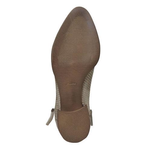 Stivaletti di pelle alla caviglia bata, beige, 594-2400 - 26