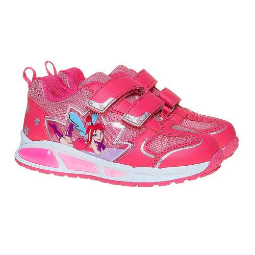 Sneakers rosa da ragazza con fata mini-b, rosa, 221-5177 - 26
