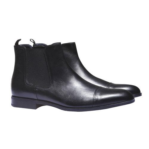 Scarpe di pelle Chelsea bata, nero, 894-6214 - 26