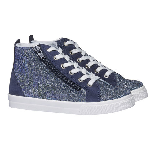 Sneakers alla caviglia con riflessi metallici north-star-junior, viola, 329-9195 - 26