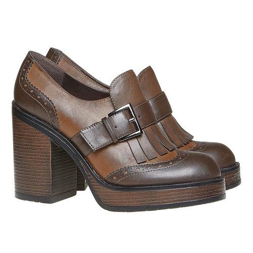 Kiltie Oxford con tacco alto bata, marrone, 721-4191 - 26