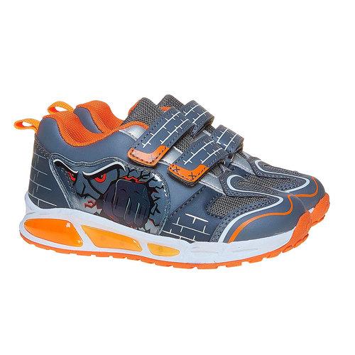 Sneakers da bambino con chiusure a velcro mini-b, grigio, 211-2170 - 26