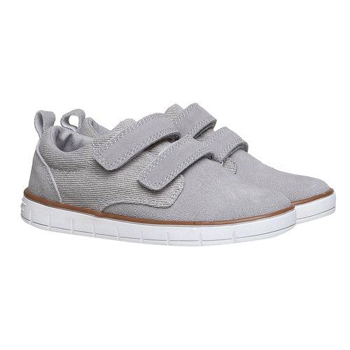 Sneakers da bambino in pelle mini-b, grigio, 313-2204 - 26
