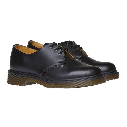 Scarpe basse di pelle con suola appariscente dr-martens, nero, 524-6250 - 26