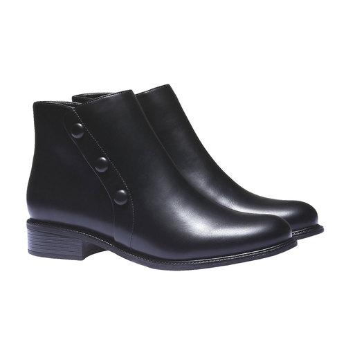 Scarpe da donna alla caviglia bata, nero, 591-6223 - 26