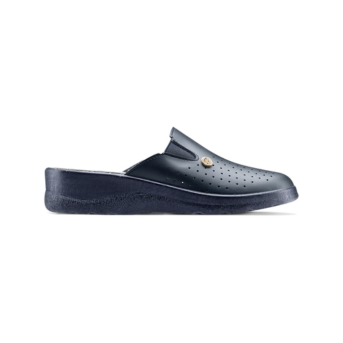 Slip-on in pelle da donna bata-comfit, blu, viola, 574-9805 - 26