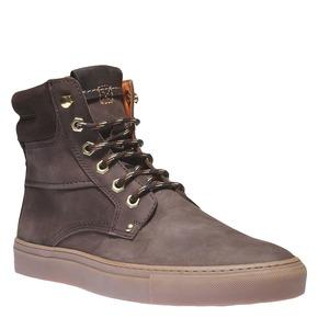 Scarpe di pelle alla caviglia weinbrenner, marrone, 896-4389 - 13