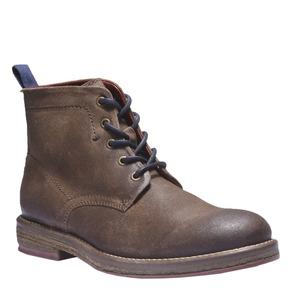 Scarpe di pelle alla caviglia bata, marrone, 893-3204 - 13
