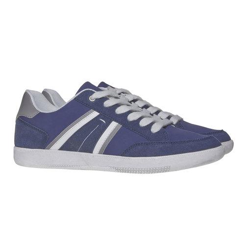 Sneakers informali da uomo bata, blu, 841-9655 - 26
