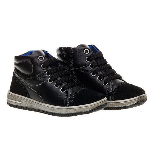 Sneakers da bambino alla caviglia mini-b, nero, 211-6133 - 26
