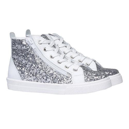 Sneakers alla caviglia con glitter north-star-junior, bianco, 329-1206 - 26
