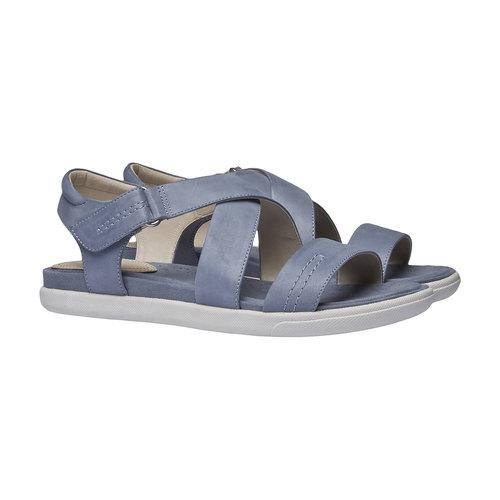 Sandali da donna in pelle bata, blu, 564-9351 - 26