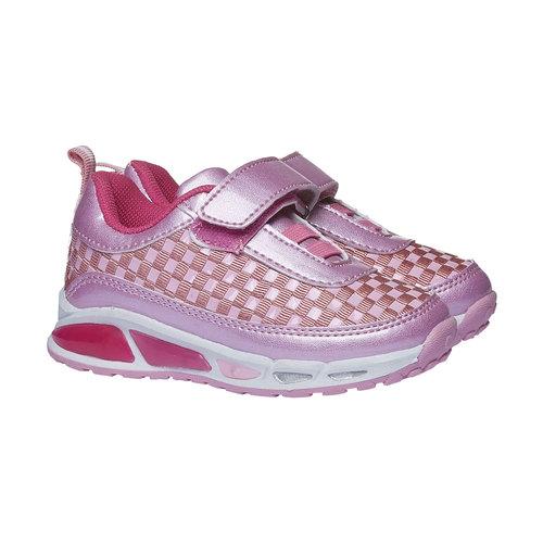 Sneakers da ragazza con chiusura a velcro mini-b, nero, 221-6119 - 26