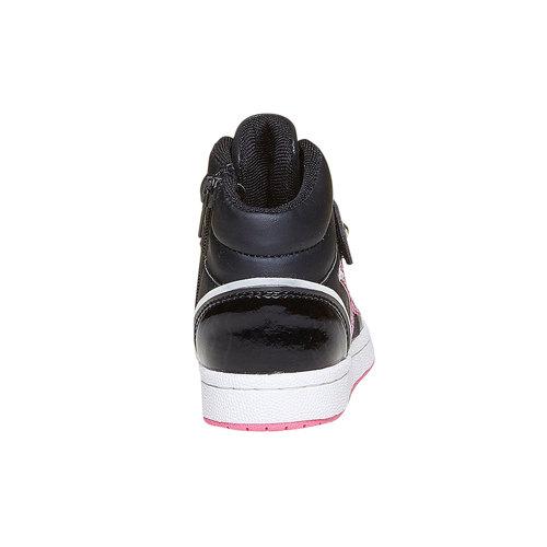Sneakers da ragazza verniciate con glitter mini-b, nero, 221-6176 - 17
