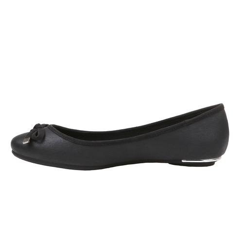Scarpe basse da donna con tacco basso bata, nero, 521-6325 - 15