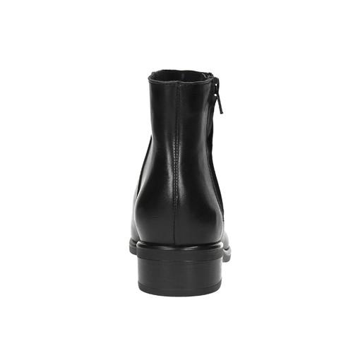 Stivaletti neri di pelle con cerniera bata, nero, 594-6518 - 17