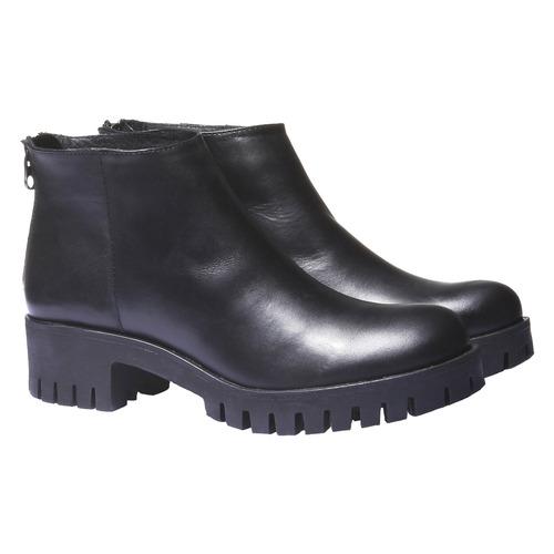 Scarpe alla caviglia con suola massiccia bata, nero, 694-6158 - 26