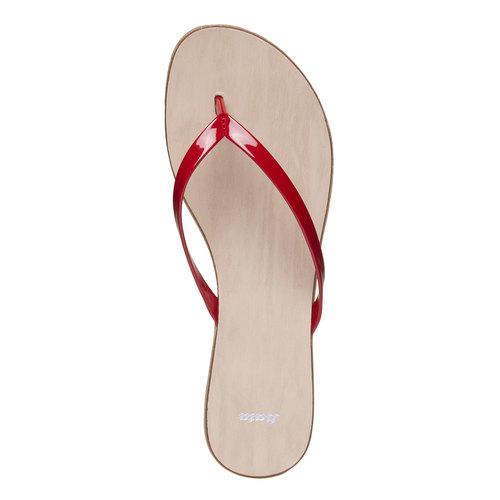 Infradito rosse da donna bata, rosso, 571-5273 - 19