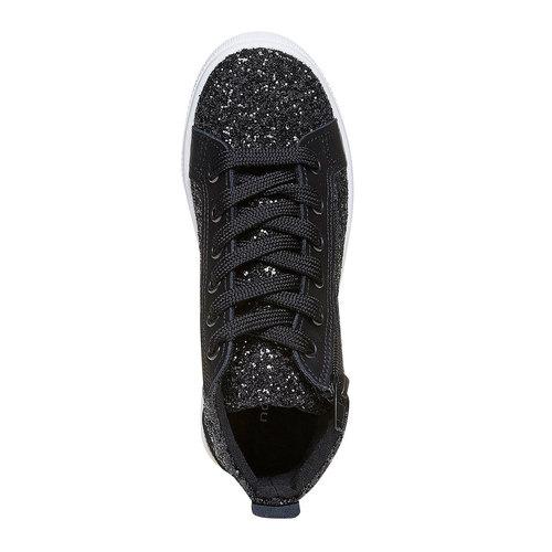 Sneakers alla caviglia con glitter north-star, nero, 329-6237 - 19