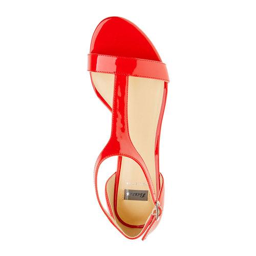 Sandali rossi da donna con cinturino sul collo del piede bata, rosso, 561-5407 - 19