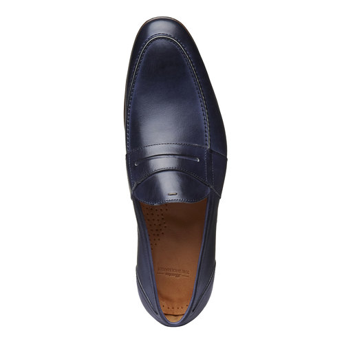 Penny Loafer di pelle bata-the-shoemaker, viola, 814-9146 - 19