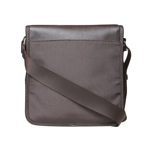 Borsa Crossbody da uomo con patta bata, marrone, 961-4776 - 26