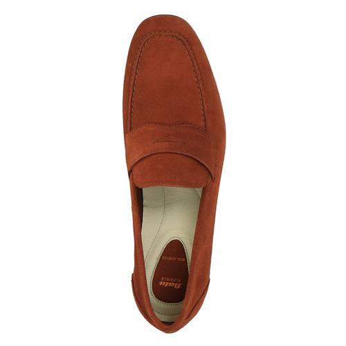 Mocassini da uomo in pelle flexible, rosso, 853-5186 - 19
