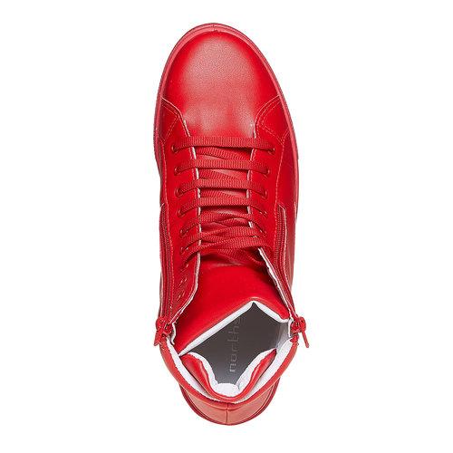 Scarpe da uomo alla caviglia con cerniere north-star, rosso, 841-5503 - 19