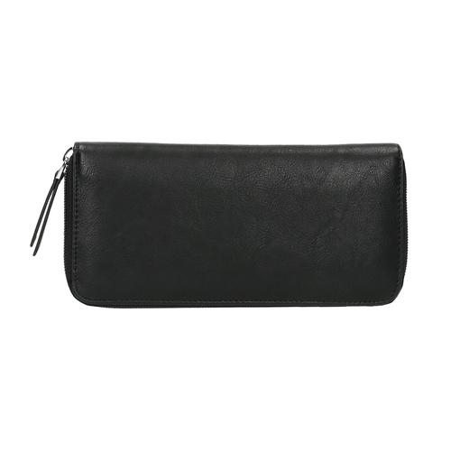 Portafoglio da donna con applicazioni in metallo bata, nero, 941-6134 - 26