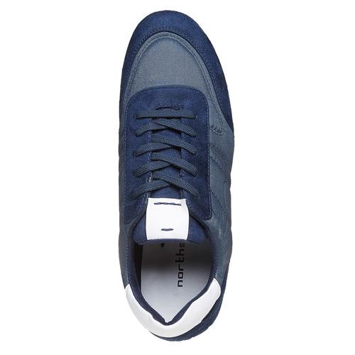 Sneakers informali da uomo north-star, blu, 849-9501 - 19