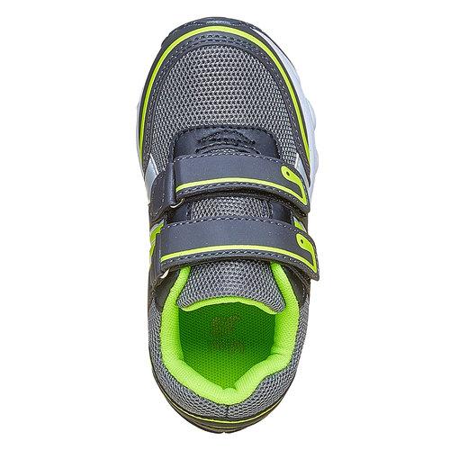 Sneakers da bambino con chiusure a velcro mini-b, grigio, 219-2167 - 19